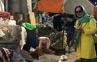 الهام حمیدی در بازار محلی شمال+عکس