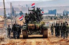 نزدیک شدن ارتش سوریه به مرز ترکیه + فیلم