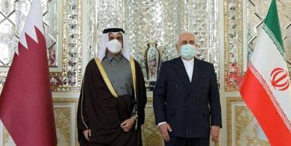 گفتوگو وزیر امور خارجه و همتای قطری در تهران