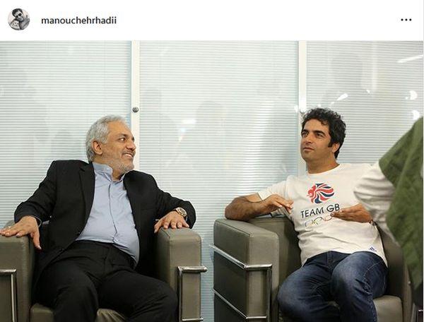تبریک آقای کارگردان به مهران مدیری+عکس