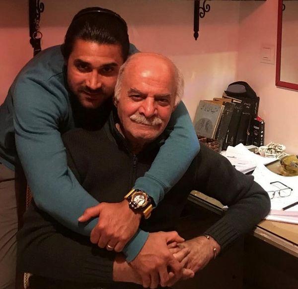 مرحوم سیروس گرجستانی و پسرش + عکس