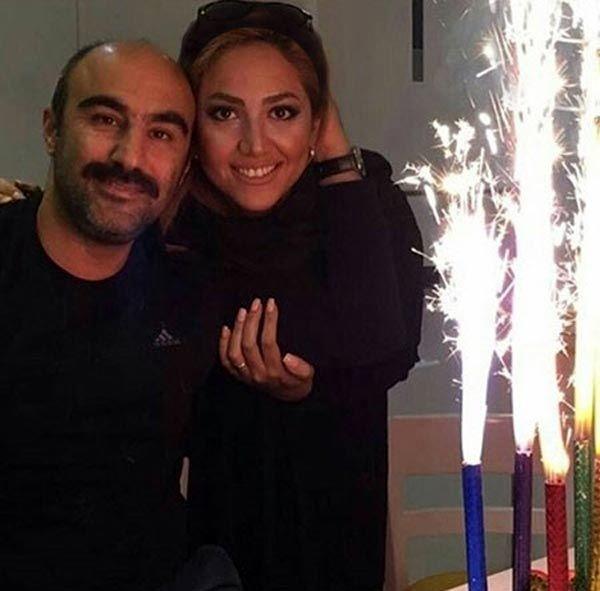 جشن گرفتن نقی معمولی و همسر واقعی اش+عکس