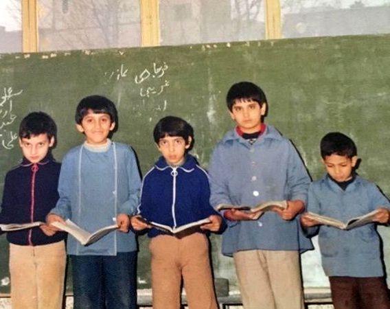 ارژنگ امیرفضلی در دوران مدرسه + عکس