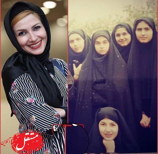 عکس بامزه از دوران کودکی خاله شادونه با حجابی متفاوت