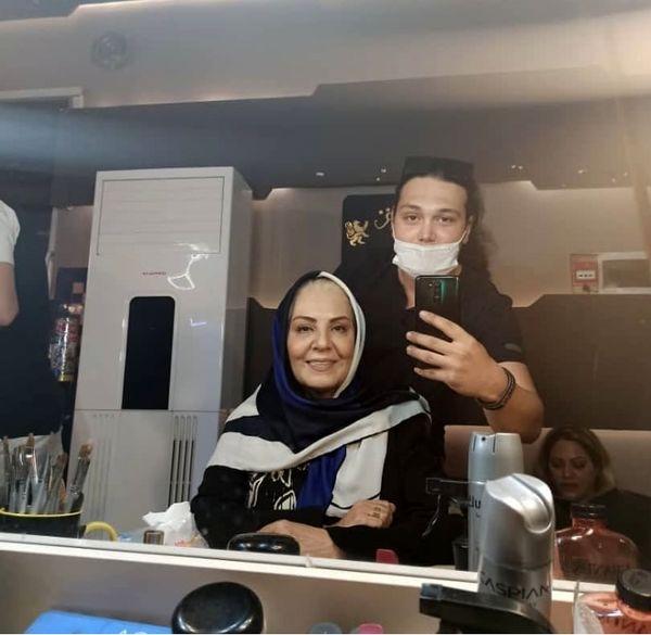 زهره حمیدی در حال گریم کار جدیدش + عکس