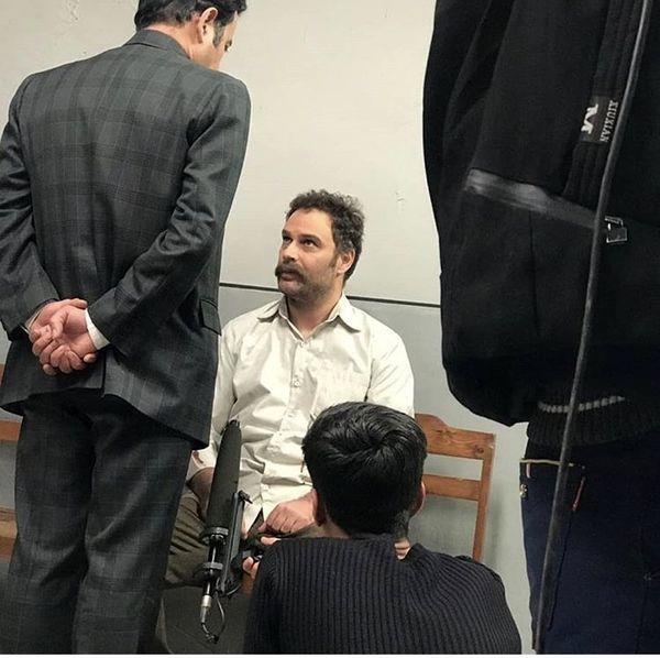آقای بازیگر در بازداشتگاه + عکس