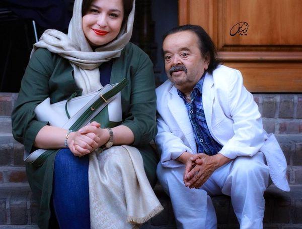 مهراوه شریفی نیا و عمو سینما+عکس