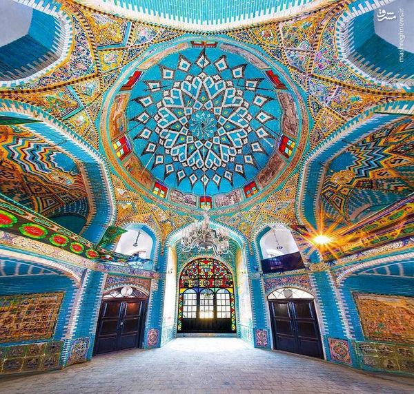 معماری زیبای تکیه معاون الملک+عکس