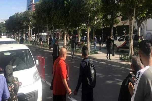 یک زن خود را در خیابانی در پایتخت تونس منفجر کرد