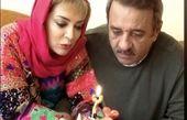 تولد دونفره خانم بازیگر و همسرش + عکس