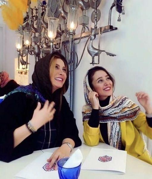 شادی فریبا نادری و الناز حبیبی در یک رستوران + عکس