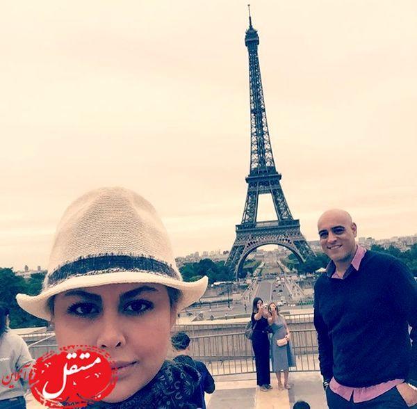 مسافرت پسر و عروس داریوش ارجمند به پاریس+عکس
