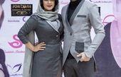 فریبا طالبی و همسرش در یک مراسم + عکس