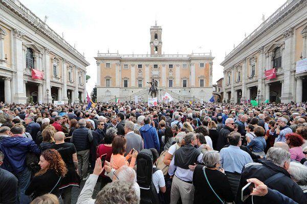 اعتراضات گسترده ضددولتی در پایتخت ایتالیا