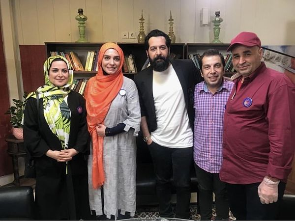 کامران تفتی در جمع بازیگران مشهور + عکس