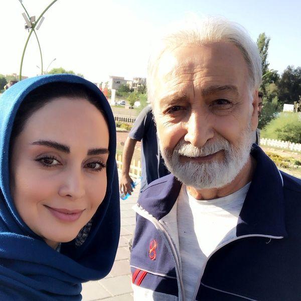 مریم خدارحمی در کنار بازیگر پیشکسوت سینما و تلویزیون + عکس