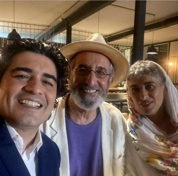 زوج هنرمند مشهور در کنار سامان احتشامی + عکس