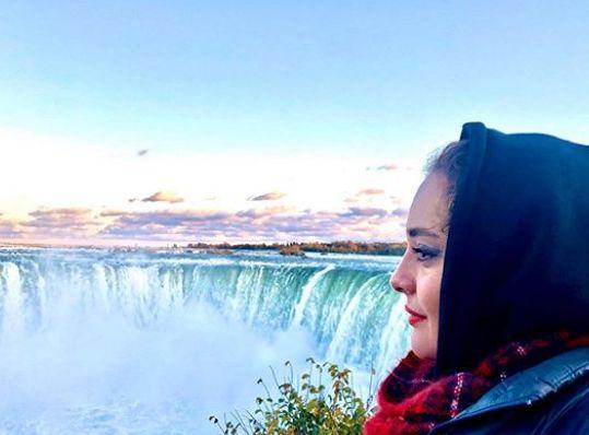 نرگس محمدی در ابهت آبشار نیاگارا+عکس