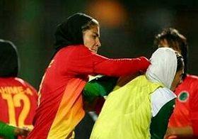 لحظه مشتزدنی در فوتبال بانوان کشورمان