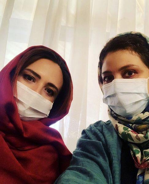 شبنم مقدمی و گلاره عباسی در روزهای کرونایی + عکی