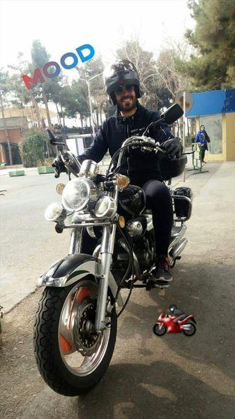 موتورسیکلت خفن کاوه سماک باشی + عکس