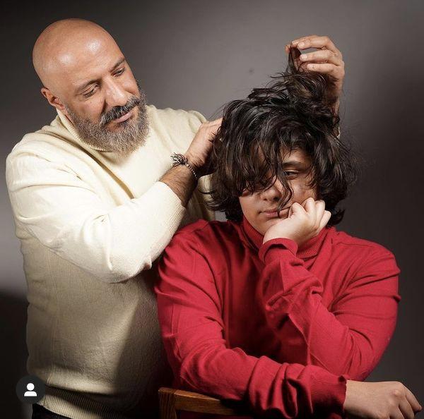بازی های امیر جعفری با پسرش + عکس