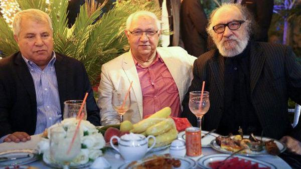 حضور علی پروین و داریوش ارجمند در مراسم آزادسازی زندانیان