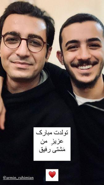 علی شادمان و دوستش + عکس