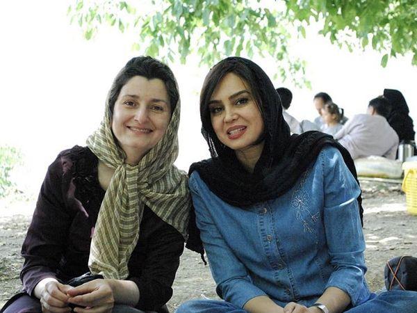 گشت و گذار خانم بازیگر با دوستش + عکس