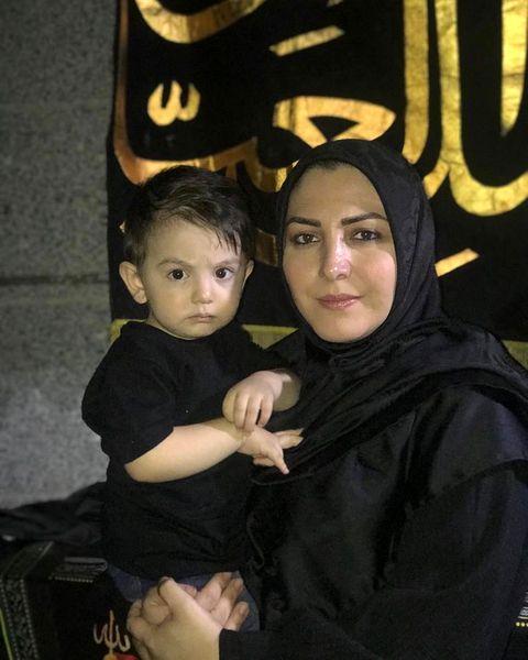 المیرا شریفی مقدم و برادر زاده اش در هیئت+عکس