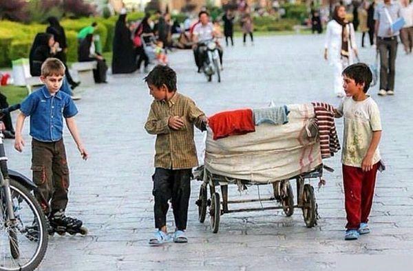 عکس پارادوکس دردآور جامعه در صفحه مسعود ده نمکی