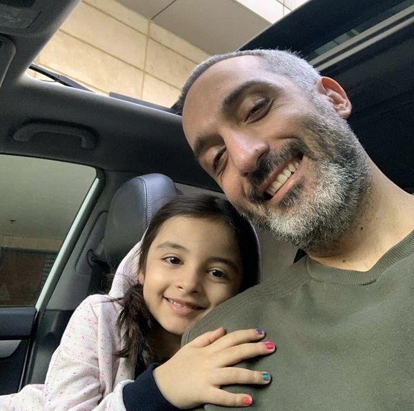 امیرمهدی ژوله و دخترش + عکس