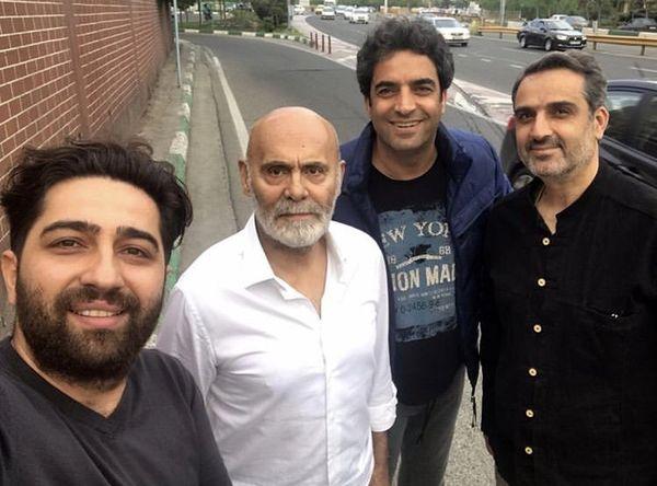 منوچهر هادی در کنار پیشکسوت سینمای ایران + عکس