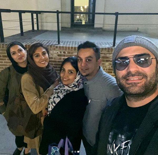 گردش دوستانه حدیثه تهرانی و همسرش