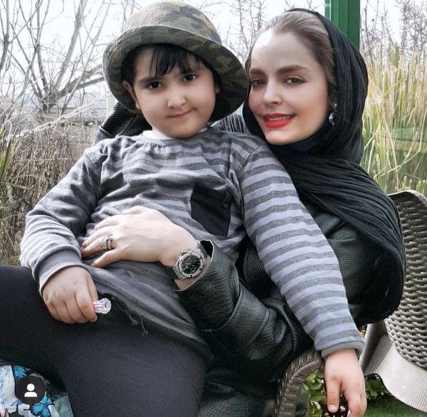 عکس جدید سپیده خداوردی با پسر بانمکش