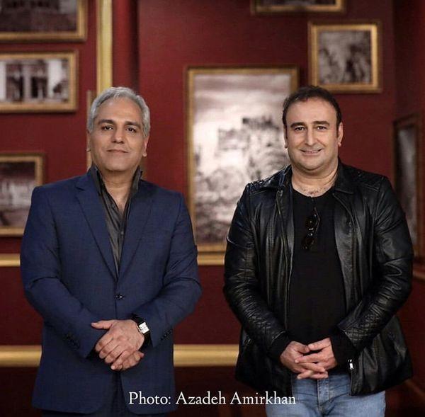 مهران احمدی در کنار کارگردان سریال های طنز مشهور + عکس