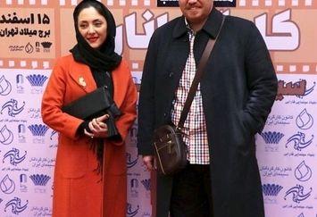 کارگردان معروف و همسر بازیگر چشم رنگی اش+عکس