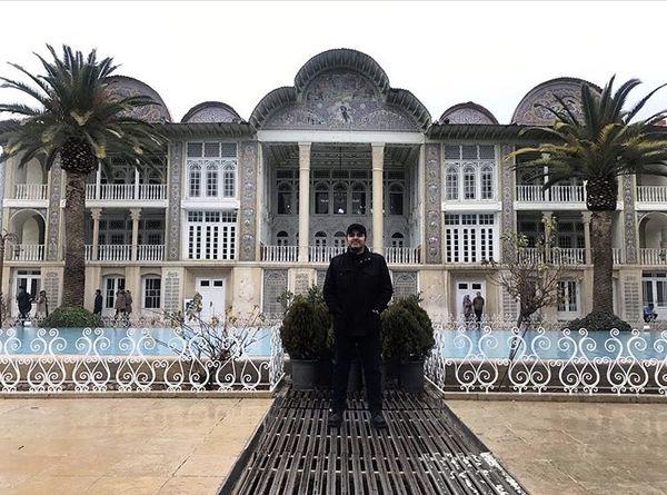سفر رضا مولایی به شیراز + عکس
