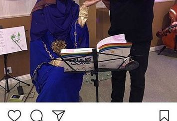 عکس خاله شادونه با مجری معروف کودکی هایمان