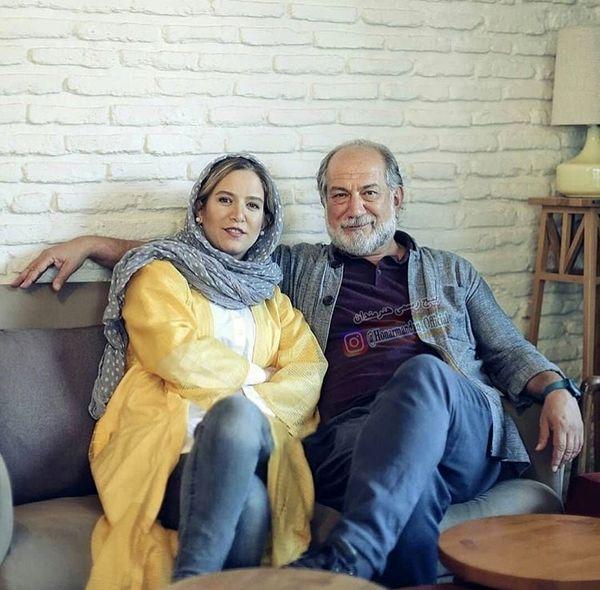 آتیلا پسیانی و دخترش در خانه شان + عکس