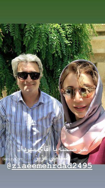مهرداد ضیایی در کنار خانم بازیگر مشهور + عکس