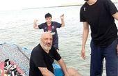 تفریح دریایی امیرجعفری و پسرش+عکس