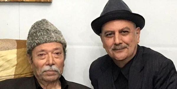 «علی نصیریان» و «جلیل فرجاد» در پشت صحنه سریال نوروزی/عکس