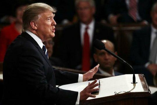 ترامپ در سخنرانی سالانه: از ایران چشم برنمیداریم