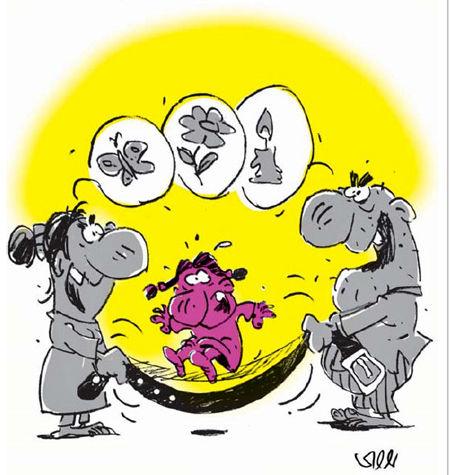 کاریکاتور «کودک آزاری؛ تراژدی بزرگ، قربانیان کوچک»