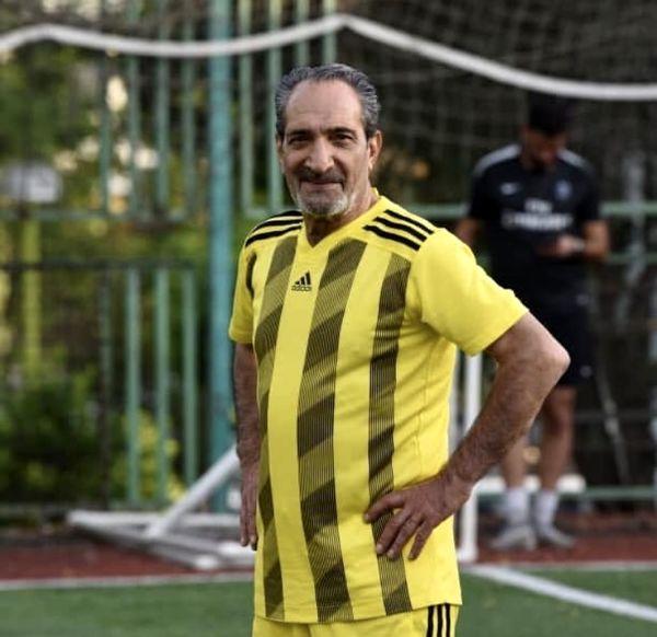 لباس فوتبالی آقای بازیگر + عکس