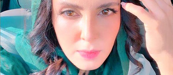 سلفی لیلا بلوکات در ماشین با موهای فر + عکس