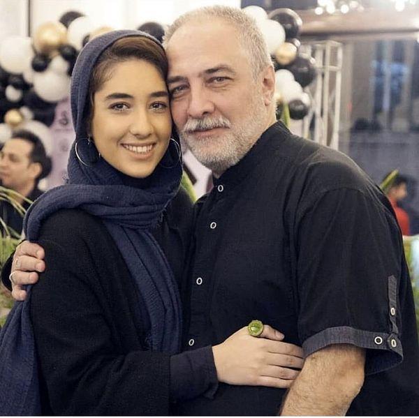 ایرج نوذری و دخترش در یک تولد + عکس