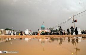بارش باران در نجف اشرف