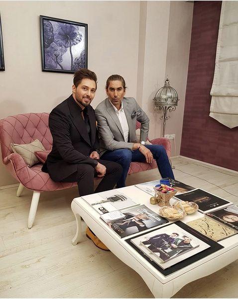 استایل رسمی دانیال عبادی و دوستش + عکس